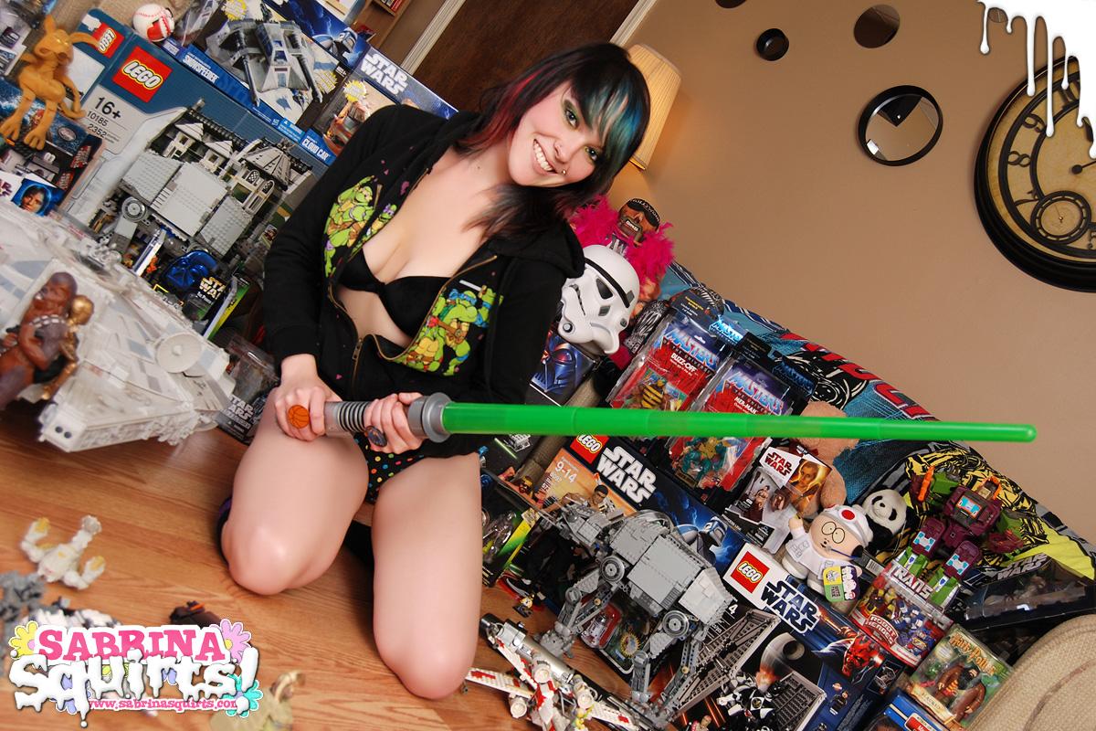 Girl nerd nude star wars